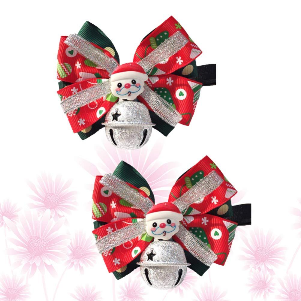 Amosfun 2 piezas corbatas de perro de navidad corbata de santa ...