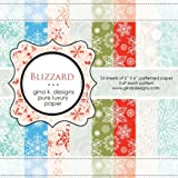 Gina K. Designs 6 X 6 Patterned Paper Pack - Blizzard