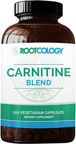 Rootcology Carnitine Blend – L-Carnitine Acetyl-L-Carnitine Formula by Izabella Wentz Author of The Hashimoto s Protocol, Ideal for Vegetarians 120 Capsules