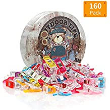 Quilting Supplies Pack of 160 Sewing Clips Multipurpose Quilting Clips Wonder Clips with Premium Storage Tin Box Assorted Colors