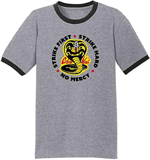 Cobra Kai Jumper The Karate Kid Strike First No Mercy Men Adult Kids Jumper Top