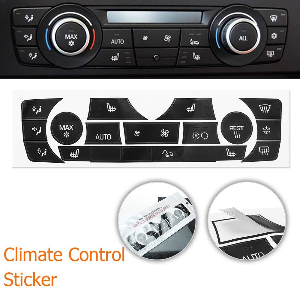 okdeals Car Sticker AC Climate Control Button Sticker Repair Kit for 2006-2011 BMW E90 E91 E92 330I