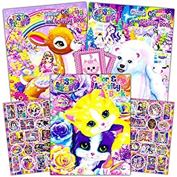 Lisa Frank Coloring Book And Stickers Super Set 3 Books With Over 30