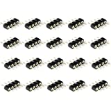 VIPMOON 100pcs 4 Pin Male to Male RGB 5050 3528 LED Strip Lights Connectors