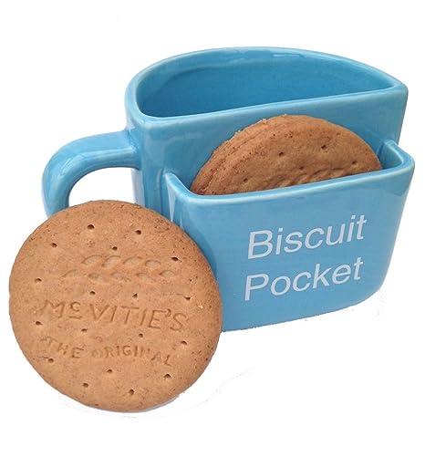 Biscuit Pocket Mug LARGE Blue: Amazon.co.uk: Kitchen & Home