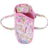 """Baby Whitney White Floral Doll Carry Bed with Pillow, 15"""""""