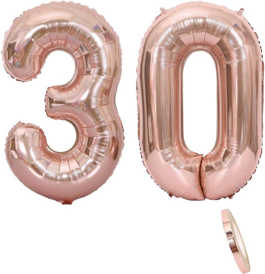 2 Luftballons Zahl 30 Nummer 30 Luftballon Rosegold Mädchen 40 Aufblasbar Helium Folienballon Roségold Ballons Figuren Riesen Ballon Für Geburtstag Party Dekoration Abschlussball Xxxl 100cm Amazon De Spielzeug
