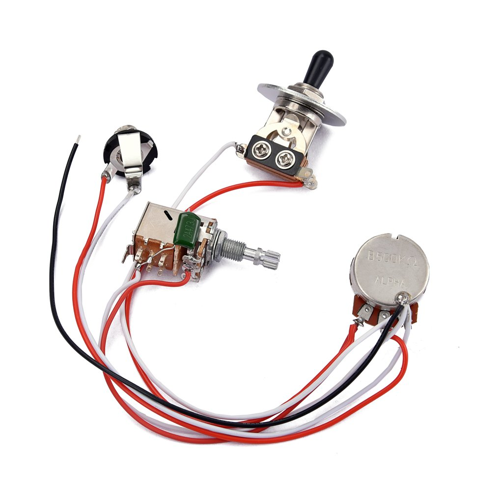 Magideal Guitar Pre Wired Harness With Toggle Switch Alpha B500k Wiring Diy Potentiometer For Electric