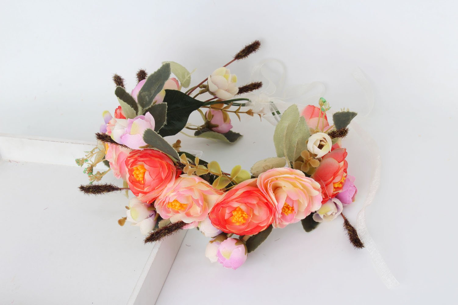 Amazon Meiliy Flower Headband Natural Berries Reeds Flower