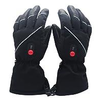 SAVIOR Guanti riscaldati per uomo e donna, batteria ricaricabile agli Ioni di Litio, guanti riscacaldati per ciclismo Motociclismo ed Escursionismo Alpinismo, Funzionano fino a 6 ore