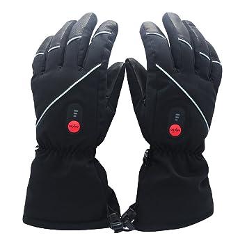 feb93f1e23c98e Savior beheizte Handschuhe für Männer und Frauen, Palm Lederhandschuhe für  Winterski und Eislaufen , Arthritis