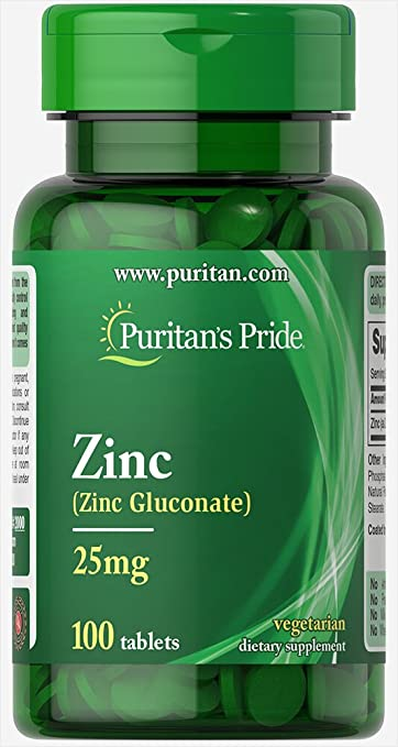 Amazon Com Puritan S Pride Zinc 25 Mg 100 Tablets Health