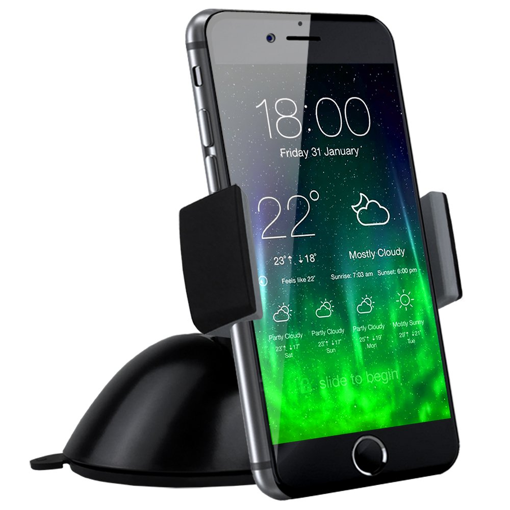 Koomus Pro Dash Universal Dashboard Windshield Smartphone Car Mount Holder for all iPhone and Android Devices