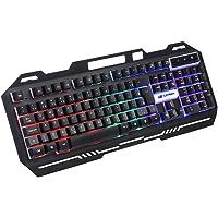 Teclado Gamer C3Tech Gaming USB KG-40BK Preto - Layout ABNT2 Membrana Anti-Ghosting com Iluminação de Led Multicolor…
