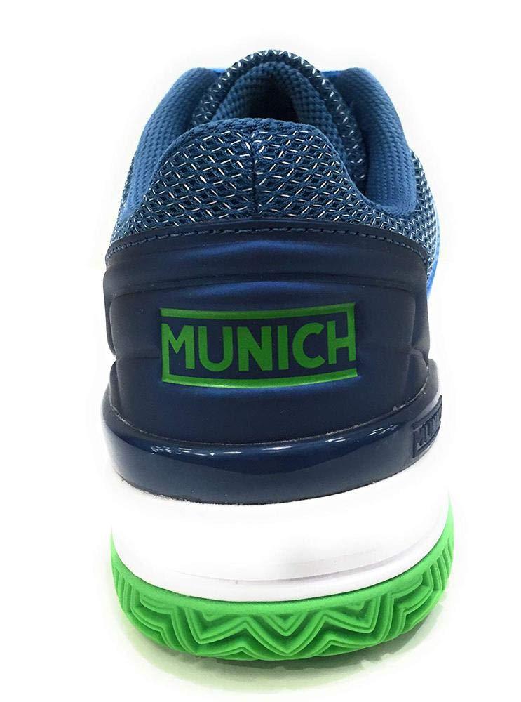 Munich Zapatillas Padel 4032003 PAD2-03 Azul: Amazon.es ...