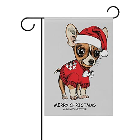 ClustersN Puppy Chihuahua In Pullover Double-Sided Printed Garden House  Sports Flag - 12x18(in) - 100% Premium Polyester Decorative Flags for