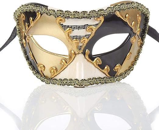 ZPYHJS mascaras venecianas Mujer,Máscara de Notas Musicales de ...