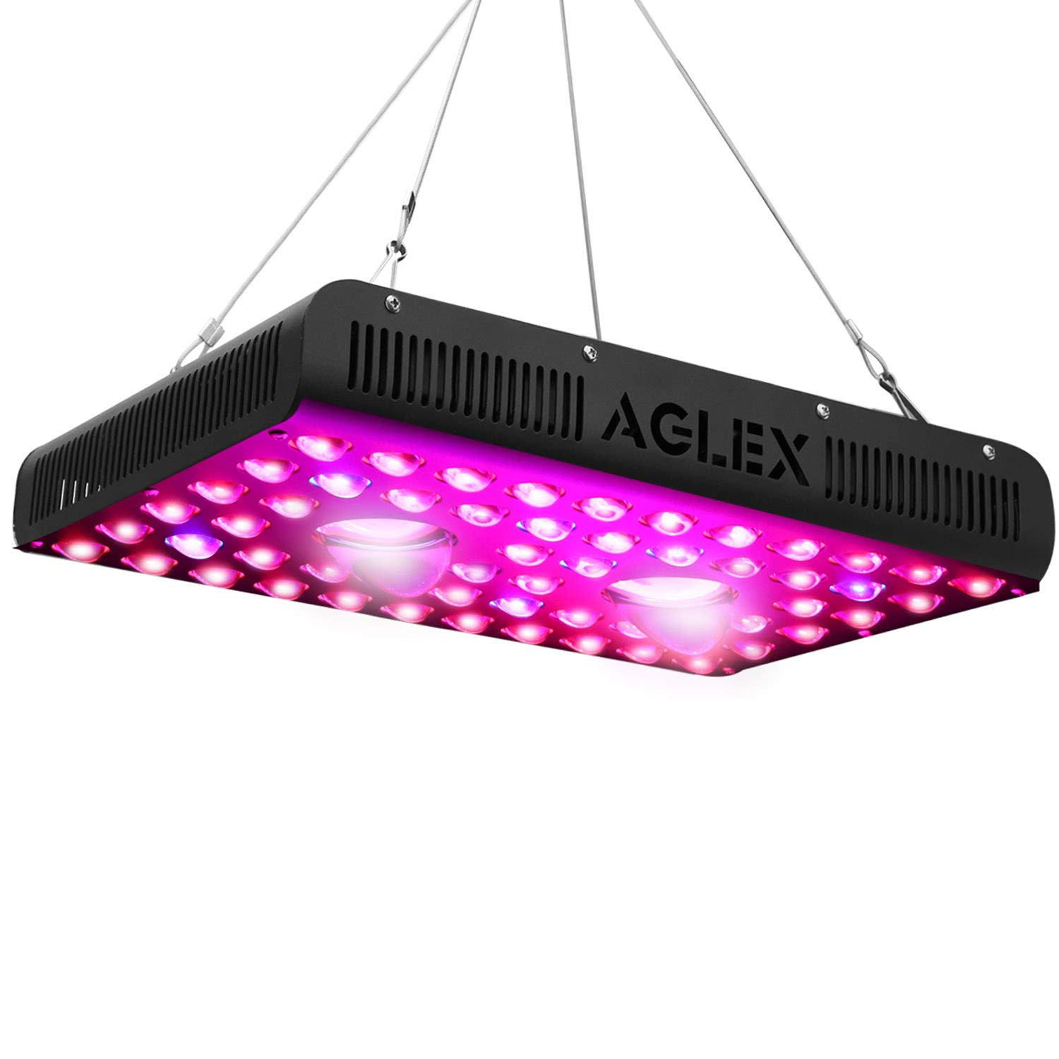 AGLEX 1200W COB LED Grow Light, Full Spectrum UV IR Reflector Series Plant Grow Lamp, with Daisy Chain, Veg and Bloom Switch, for Hydroponic Greenhouse Indoor Plant Veg and Flower by AGLEX