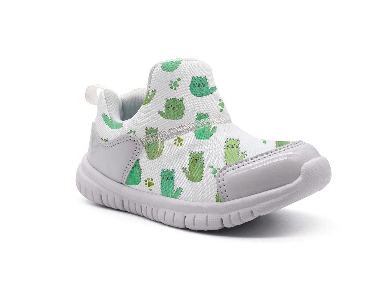 ONEYUAN Children Cute cat Cactus Figure Kid Casual Lightweight Sport Shoes Sneakers Walking Athletic Shoes