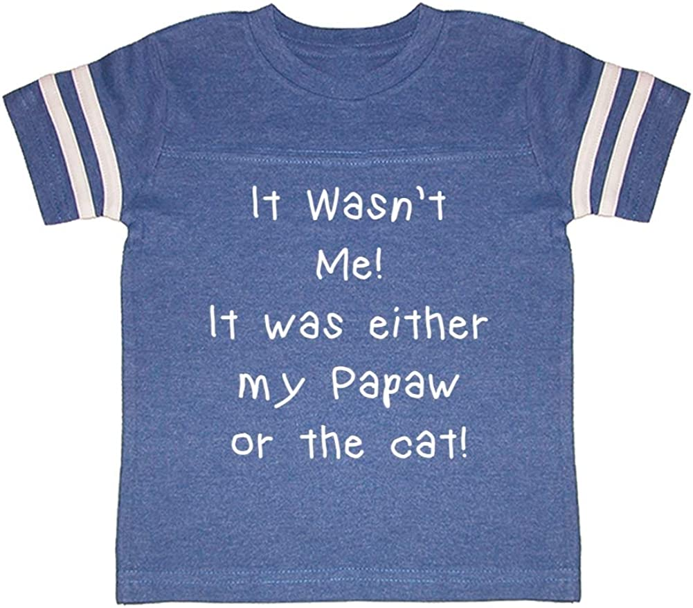 It was Either My Papaw Or The Cat It Wasnt Me Toddler//Kids Sporty T-Shirt