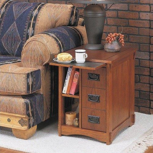 Powell Mission Oak Magazine Cabinet Table (Oak Veneer Magazine Table)