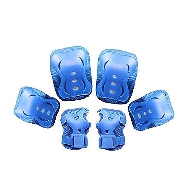 WINOMO Genouillères de crochet Coudières Protections de poignet de planche à roulettes Chaussure de vélo 6 (bleu) protection de chaussure