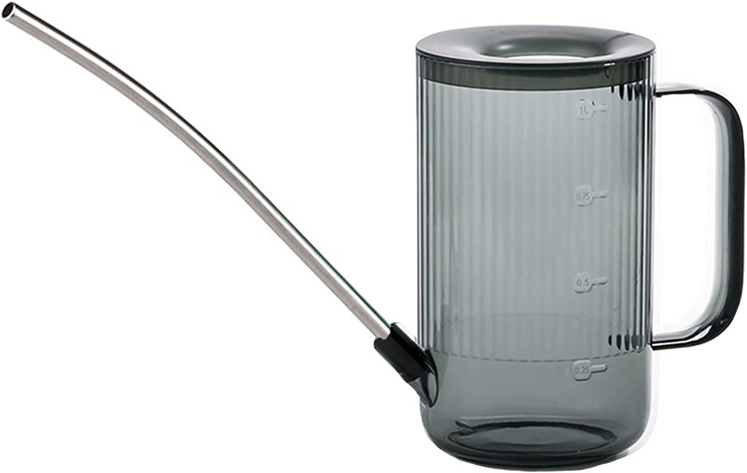 Long Spout Watering Can Indoor, Small Watering Cans for House Plants, Flowers, Succulents (Grey)