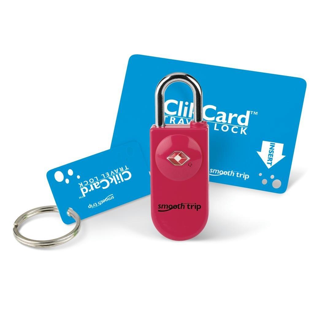 Smooth Trip ClikCard TSA Luggage Lock, Dark Pink ST-LK8005-RR