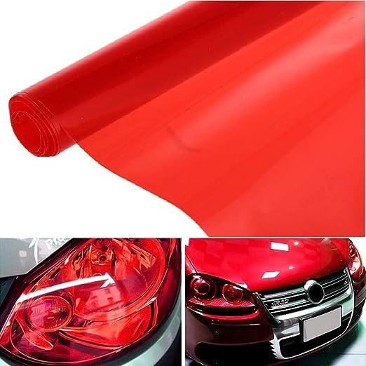 rouge film de protection teint/é en vinyle feux antibrouillard feux arri/ère Sunwan Film teint/é pour phares de voiture 30 x 60 cm