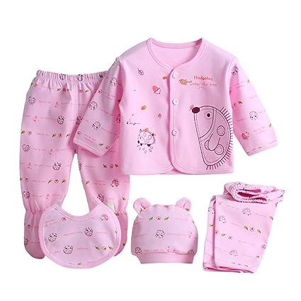 ESHOO Juego de 5 accesorios de ropa para bebé recién nacido, algodón ...