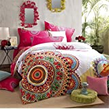 Awaytoy Sanded 4-Piece Comforter Sets Bedding Set 1 Duvet Cover 1 Flat Sheet and 2 Pillow Cases 100% Cotton for Winter Queen Size