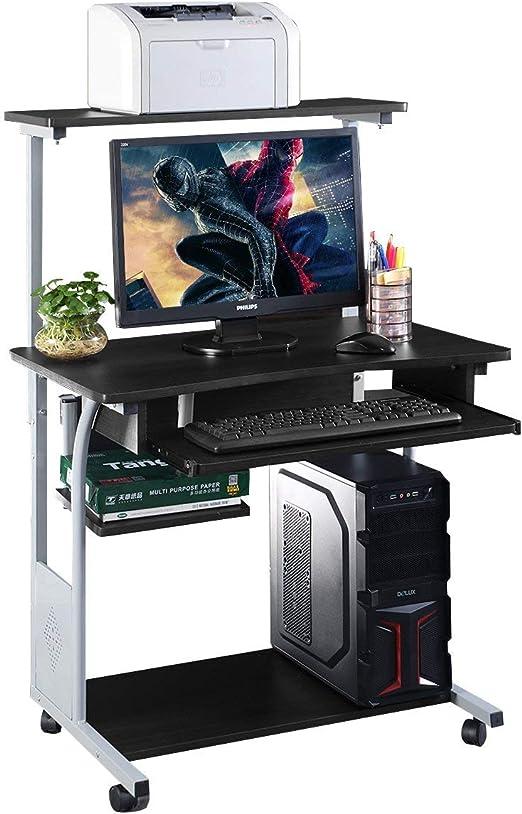 COSTWAY Escritorio de Computadora Mesa de Ordenador con Estante ...