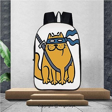 Amazon.com | Large capacity school backpack, Cute fat ninja ...