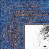 ArtToFrames 11x14 inch Blue Rustic Barnwood Wood Picture Frame, WOM0066-1343-YBLU-11x14