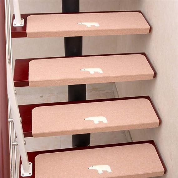 ACZZ 7 piezas de escalera de seguridad antideslizante autoadhesiva Peldaños escalones Alfombrillas para el hogar Alfombras Escalera Alfombra Área de almohadilla Alfombra Protector de escalera Alfombr: Amazon.es: Bricolaje y herramientas