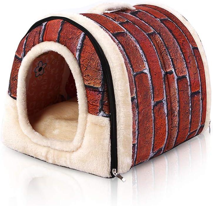 PETCUTE Casa Cama para Perros Casa para Mascotas Caseta para Perro Gato Interior con Cojín removible