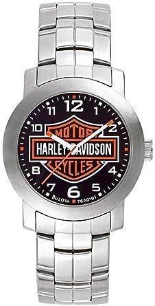 Harley Davidson 76 A019 para Hombre Esfera Negra Reloj de Pulsera