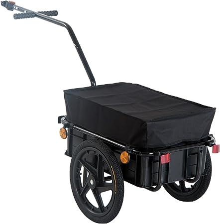 HOMCOM Remolque de Bicicleta para Carga 40kg Equipaje Reflectores ...