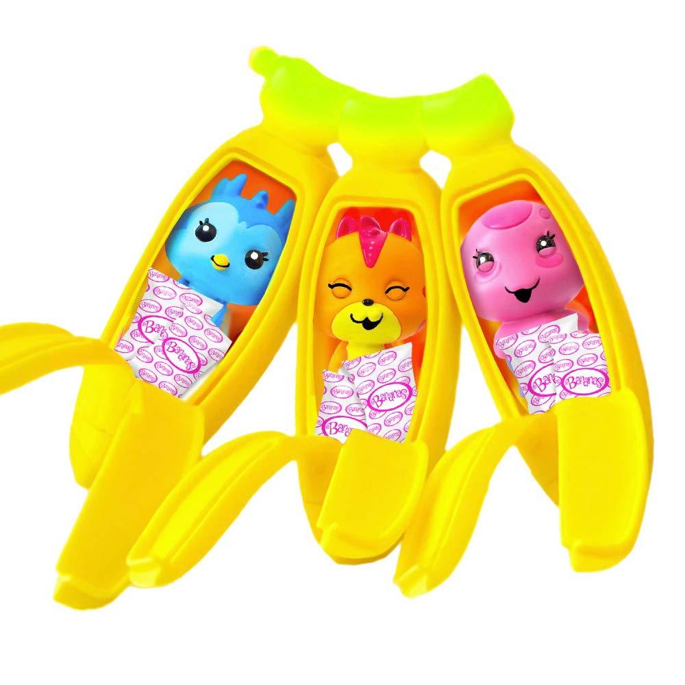 Incluye 7 Pegatinas de Piedras Preciosas Colgador y Hoja de colecci/ón Bananas 35844 Color Lila Juego de Figuras de pl/átano con Olor a pelar y Sabroso 2 Amigos de Squishy