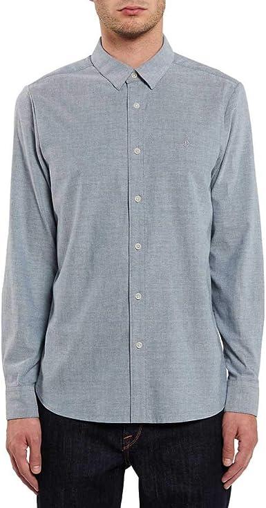 Volcom - Oxford Stretch - Camisa Hombre - Azul: Amazon.es: Ropa y accesorios