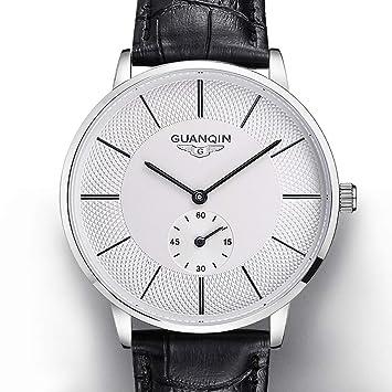 WERTY&K Relojes De Hombre A Prueba De Agua Ultrafino De Lujo Classic Mechanical Reloj De Pulsera