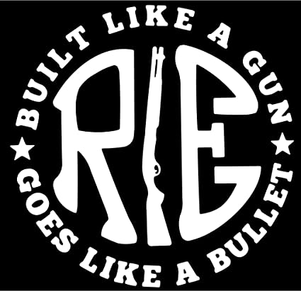 fusion pack of 2 re like a gun white sticker decal sticker for royal