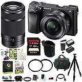 Sony a6300 Mirrorles Digital Camera w/ 16-50mm f/3.5-5.6 & 55-210mm Lens Bundle