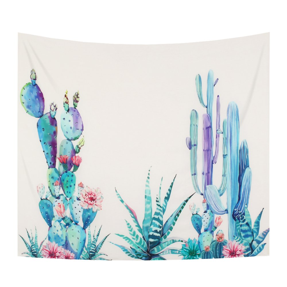 YAMUDA College Dorm Decorate Vivid Tapestry Wall Hanging, Apartment Decor Collection, Bedroom Living Room Dorm Tapestries (Purple cactus)