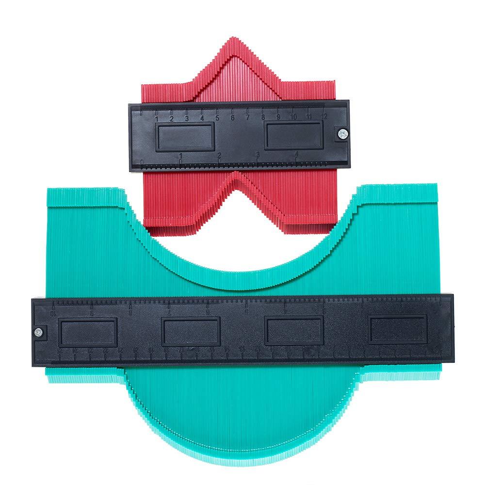 2 Piezas Medidor Duplicador de Contorno Herramienta Perfil Irregular Contour Gauge Duplicator Para Suelo Laminado Mediciones Precisas Carpinter/ía Baldosa SXUUXB Duplicador de Contornos
