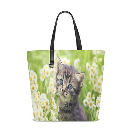 Amazon.com | Greater Lafayette Cat Tote Bag Purse Handbag ...