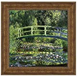 Design Toscano Bridge over a Pond of Water Lilies, 1899: Canvas Replica Painting: Grande