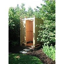 Free Standing Cedar Outdoor Shower Enclosure Kit