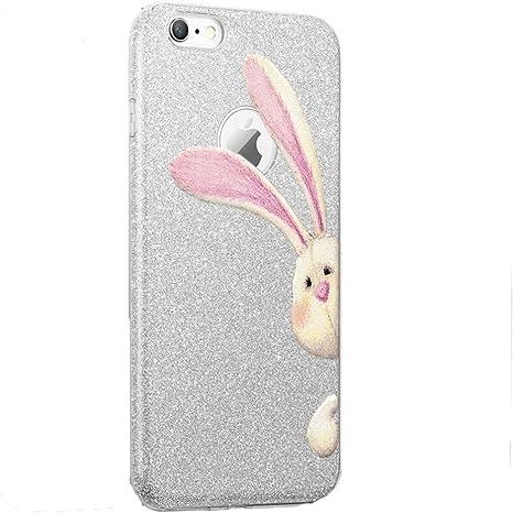 Teryei Funda iPhone 6 Plus / 6S Plus, TPU+PC Case Anti-Golpes protección Rasguño y Resistente [Ultra Slim ] Full Anti-Estático Choque Bumper pour 6 Plus / 6S Plus - Polvo de flash