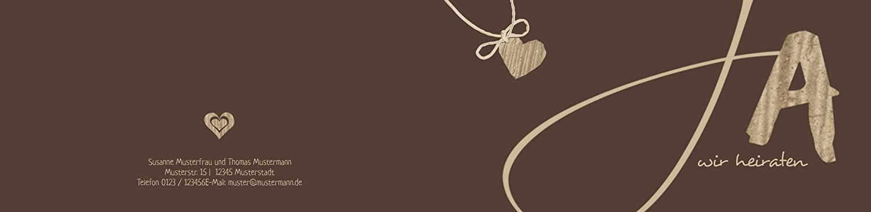 Hochzeitskarten  Einladung natürlich Ja Ja Ja 2, hochwertige Einladung zur Heirat inklusive Umschläge   30 Karten (format  148.00x105.00mm) Farbe  Braun B074V8637Q | Um Sowohl Die Qualität Der Zähigkeit Und Härte  | Schön und charmant  | Bevorzugtes b1a278